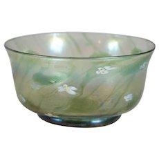 American Tiffany Studios Millefiori Favrile Glass Finger Bowl