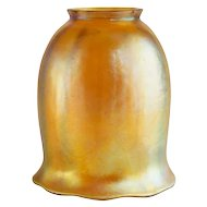 American Tiffany Gold Favrile Tulip Art Glass Lamp Shade