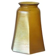 American Tiffany Art Glass Gold Favrile Lamp Shade