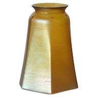 American Tiffany Art Glass Gold Favrile Lamp Shade