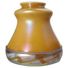 American Steuben Carder Period Aurene Art Glass Intarsia Border Lamp Shade