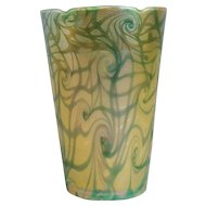 American Durand Art Glass King Tut Pattern Torchiere Lamp Shade