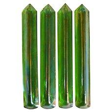 Set of Four American Tiffany Studios Art Glass Lighting Prisms