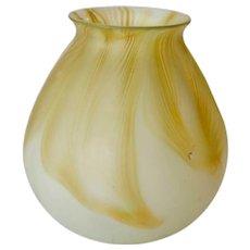 American Tiffany Studios Glass Yellow Pale Satin Finish Lamp Shade