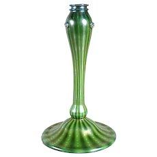 American Tiffany Studios Green Favrile Glass Arabian Table Lamp Base
