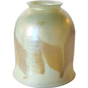 American Tiffany Studios Favrile Glass Double Hooked Lamp Shade
