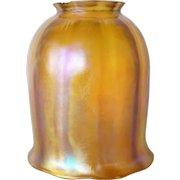 American Tiffany Studios Favrile Glass Gold Tulip Lamp Shade