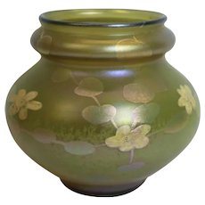 Large American Louis Comfort Tiffany Favrile Glass Lily Bowl