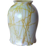 American Steuben Glass Gold Hearts and Vines Tulip Lamp Shade