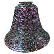Large American Durand Moorish Crackle Iridescent Glass Lamp Shade