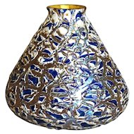 Large American Durand Art Glass Moorish Crackle Lamp Shade