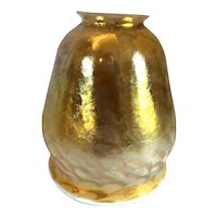 Early American Tiffany Studios Favrile Glass Gold Lamp Shade