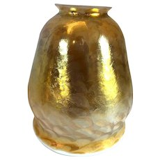 American Tiffany Studios Favrile Glass Gold Lamp Shade