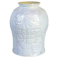 American Durand Glass White Crackle Lamp Shade