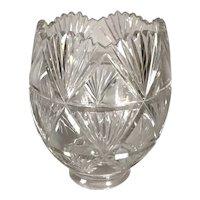 Continental Clear Cut Glass Fan Pattern Lamp Shade