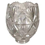 Continental Clear Cut Glass Fan Pattern Lamp Shade