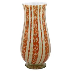 American Nash Iridescent Striped Glass Vase