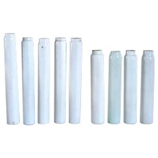 Nine American Opal White Glass Candle / Gas Light Socket Covers