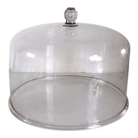 Very Large American New England Sandwich Glass Cake Dome Cover