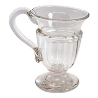 English Georgian Cut and Blown Clear Glass Custard/Syllabub Dessert Cup