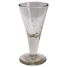 English Georgian Petal Cut Drinking Glass