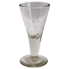 English Georgian Petal Cut Gin Drinking Glass Stemware
