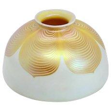 American Steuben Glass Gold Dragged Loop Lamp Shade