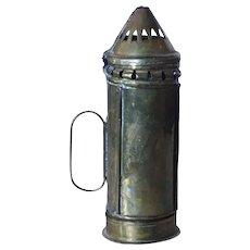 Small English Georgian Brass Portable Lantern