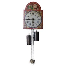 Small Continental Painted Wag-on-the-Wall Clock