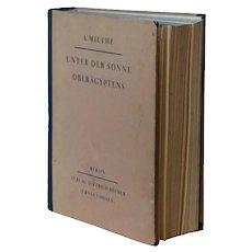 German Book: Unter Der Sonne Oberagyptens by A. Miethe
