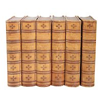 Set of Six Leather Bound Book Volumes: The American Annual Cyclopedia, V-X