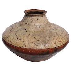 Large Peruvian Shipibo Ceramic Polychrome Geometric Pot (Chomo)