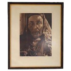EDWARD S. CURTIS Photogravure Print, Francisca Chiwiwi-Isleta