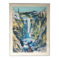EARL BISS Serigraph on Paper, Walking upon the Thundering Waters, 25/25