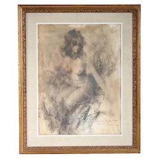 RAMON KELLEY Charcoal Drawing on Paper, Theodora