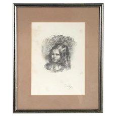PIERRE-AUGUSTE RENOIR Lithograph on Paper, Claude Renoir, Tourne a Gauche