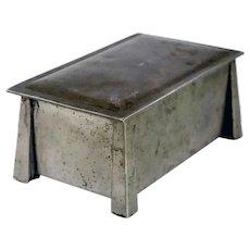Vintage American L.& M. T. Co. Fatima Arts and Crafts Nickel Silver Dresser Box