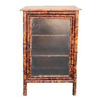 English Aesthetic Movement Bamboo and Glass Side Cabinet
