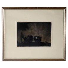 E. HESKETH HUBBARD Etching on Paper, The Caravaners' Yarn, No. 10 State II