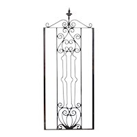 American Victorian Wrought Iron Architectural Panel