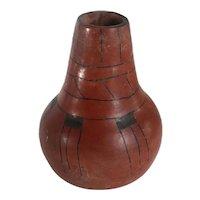 Vintage Native American Pima Maricopa Pottery Polished Redware Vase