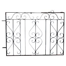 Vintage American Wrought Iron Architectural Window Grille