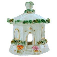 English Staffordshire Porcelain Cottage Pastille Burner