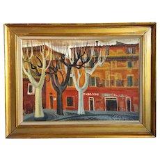 GLORIA MERINO Oil on Canvas Painting, Rome Street Scene