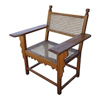 Anglo Indian Caned Satinwood Armchair