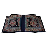 Tibetan Hand-Knotted Wool Horse Saddle Blanket