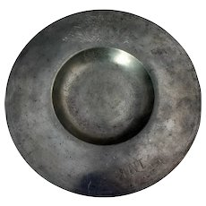 Continental Baroque Pewter Cardinal's Hat Alms Dish