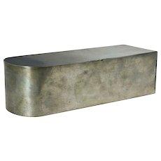 English Pewter Coffin-Shape Box