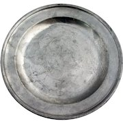 English Curtis & Co. George III Pewter Plate