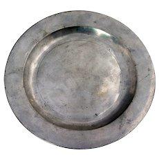 English Georgian Robert Sadler Pewter Plate